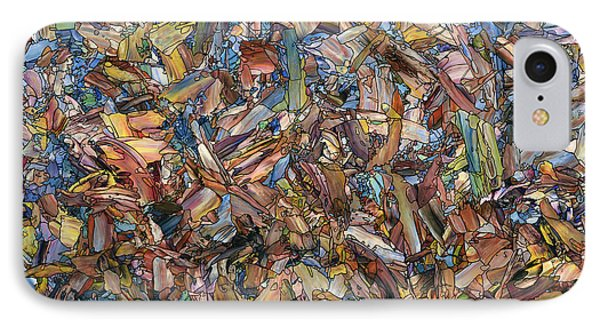 IPhone Case featuring the painting Fragmented Fall - Square by James W Johnson