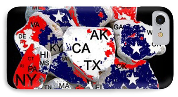 Fragmented States Of The Union Phone Case by Bruce Iorio