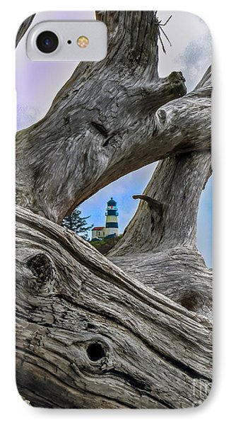 Framed Lighthouse IPhone Case by Robert Bales