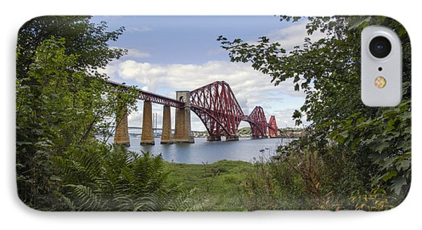 Framing The Forth Bridge IPhone Case by Ross G Strachan