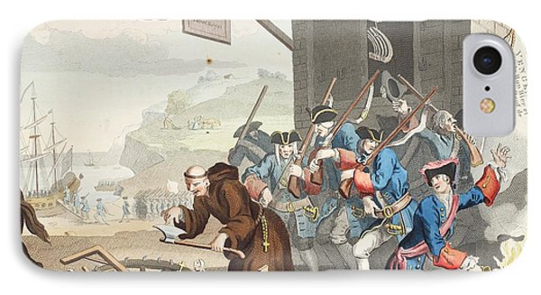 France, Illustration From Hogarth IPhone Case by William Hogarth