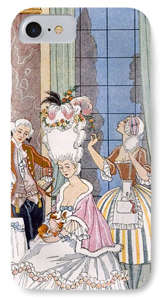 France In The 18th Century Phone Case by Georges Barbier