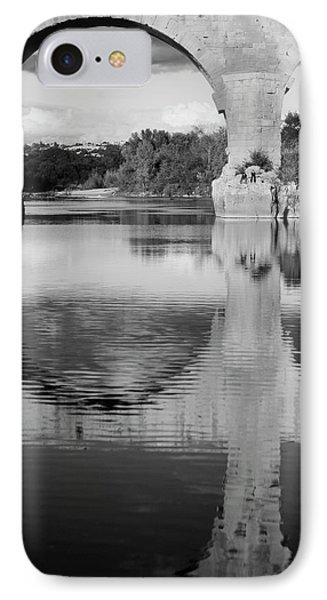 France, Languedoc, Gard, View Of Pont IPhone Case by David Barnes