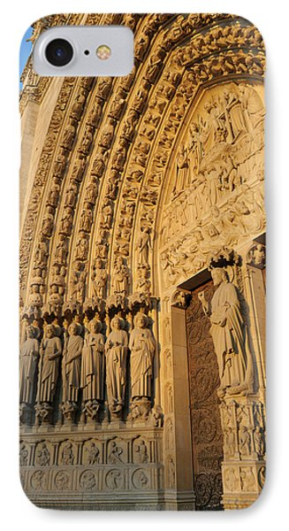 France, Paris Door Arches With Carved IPhone Case by Kevin Oke