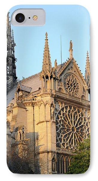 France, Paris Facade Of Notre Dame IPhone Case by Kevin Oke