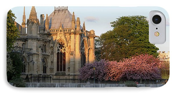 France, Paris Notre Dame Cathedral IPhone Case by Kevin Oke