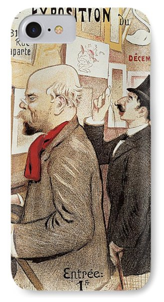 France Paris Poster Of Paul Verlaine And Jean Moreas IPhone Case by Anonymous