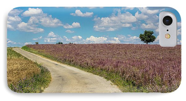 France, Provence, Country Backroad IPhone Case by Terry Eggers