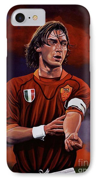 Francesco Totti Phone Case by Paul Meijering