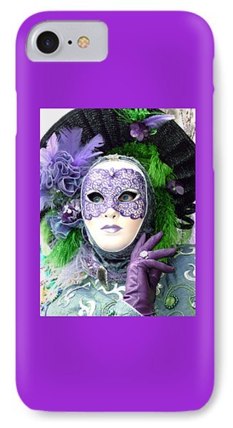 IPhone Case featuring the photograph Francine's Purple Glove by Donna Corless