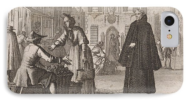 Francis A Jesu Sells Fruit On A Market, Caspar Luyken IPhone Case by Caspar Luyken And Christoph Weigel