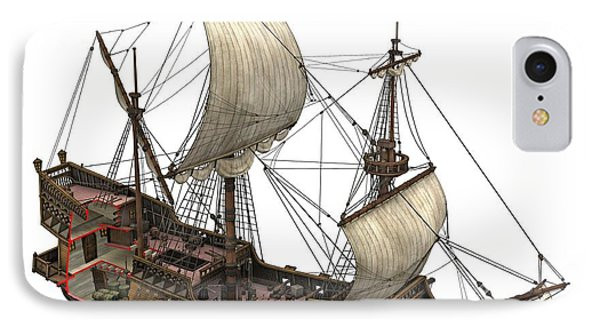 Francis Drake's Golden Hind, 16th Century IPhone Case