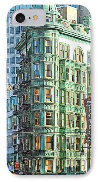 Francis Ford Coppola Columbus Tower In San Francisco IPhone Case by Artist and Photographer Laura Wrede
