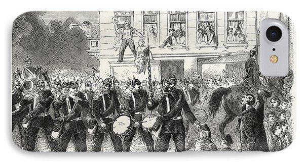 Franco-prussian War Departure Of Berlin Of The Regiment IPhone Case
