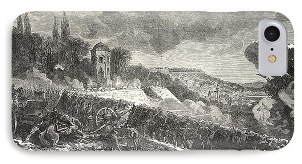 Franco-prussian War Scene From The Defense Of The Park IPhone Case