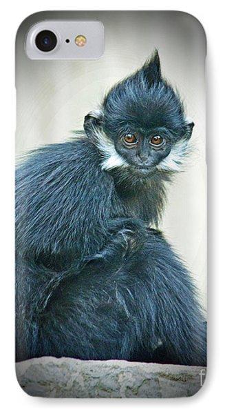 Francois Langur Monkey II Phone Case by Jim Fitzpatrick