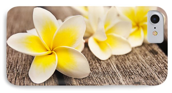 Frangipani Flower IPhone Case by Delphimages Photo Creations