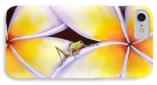 Frangipani Frogs IPhone Case