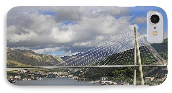 Franjo Tudman Bridge IPhone Case by Tony Murtagh