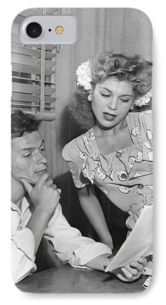 Frank Sinatra & Eileen Barton IPhone Case by Underwood Archives