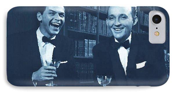 Frank Sinatra And Bing Crosby IPhone Case by Cj Salinas