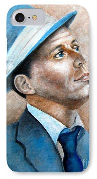 Frank Sinatra Ol Blue Eyes IPhone Case by Patrice Torrillo