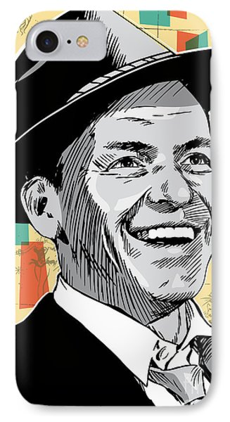 Frank Sinatra Pop Art IPhone Case by Jim Zahniser