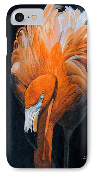 Frank The Flamingo IPhone Case by Jane Axman