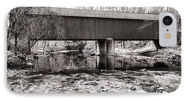 Frankenfield Bridge Over The Tinicum Creek IPhone Case by Olivier Le Queinec