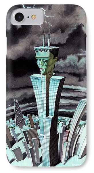 Frankentower IPhone Case by Ben Sapia