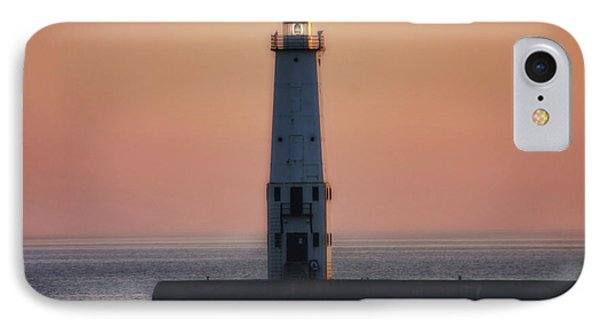 IPhone Case featuring the photograph Frankfort Lighthouse II by Joan Bertucci