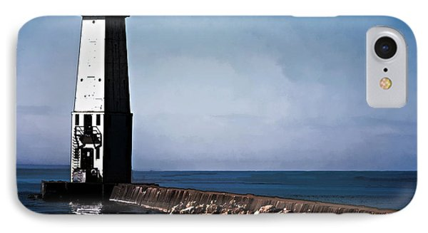 IPhone Case featuring the photograph Frankfort Michigan Lighthouse by JRP Photography