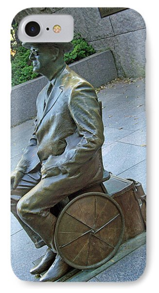 Franklin Delano Roosevelt In A Wheelchair Phone Case by Cora Wandel