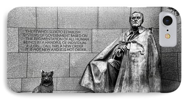 Franklin Delano Roosevelt Memorial IPhone Case by Allen Beatty
