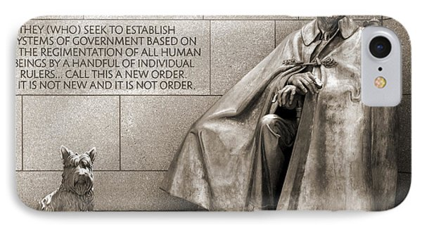 Franklin Delano Roosevelt Memorial - Bits And Pieces 7 Phone Case by Mike McGlothlen