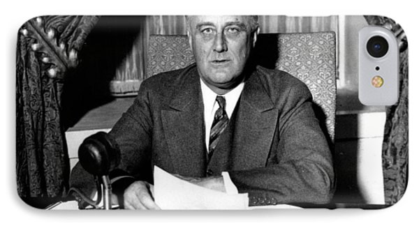 Franklin Delano Roosevelt IPhone Case by Unknown