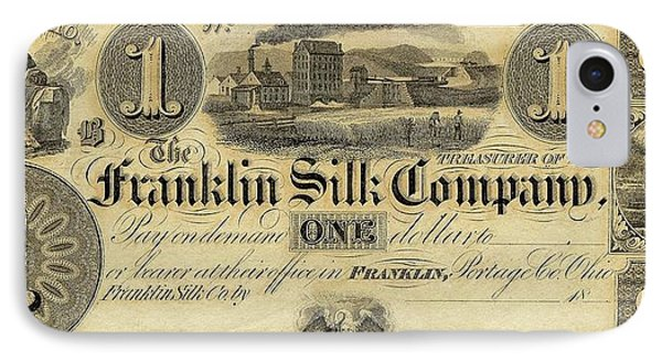 Franklin Silk Company Bank Note IPhone Case by American Philosophical Society