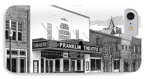 Franklin Theatre In Franklin Tn IPhone Case by Janet King