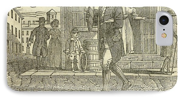 Franklin Walking In Philadelphia IPhone Case by British Library