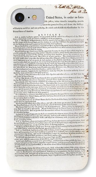 Franklin's Copy Of The Us Constitution IPhone Case by American Philosophical Society