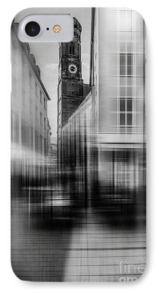 Frauenkirche - Muenchen V - Bw IPhone Case by Hannes Cmarits