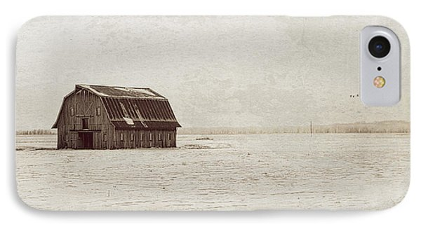 Frechman Barn With Textures IPhone Case by Wayne Meyer