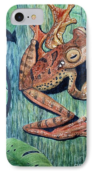 Freckles Tree Frog IPhone Case by Joey Nash