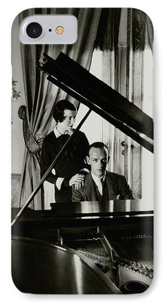 Fred And Adele Astaire At A Piano IPhone Case by Cecil Beaton