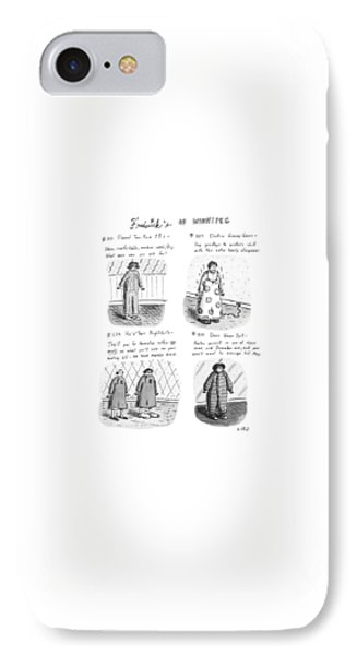 Frederick's Of Winnipeg IPhone Case by Roz Chast