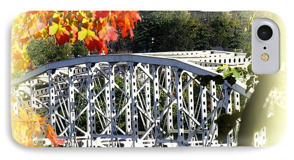 Free Bridge From Lafayette College IPhone Case by Jacqueline M Lewis