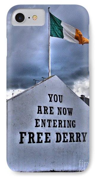 Free Derry Wall IPhone Case