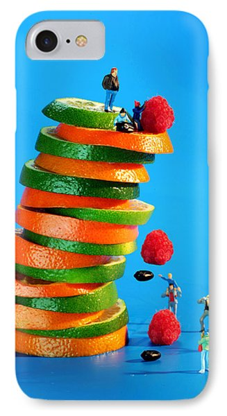 Free Falling Bodies Experiment On Fruit Tower Phone Case by Paul Ge