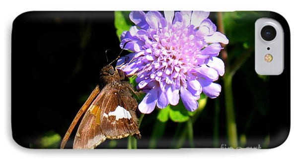 IPhone Case featuring the photograph Silver Spotted Skipper by Patti Whitten