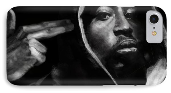 Free Will - 2 Pac Phone Case by Reggie Duffie